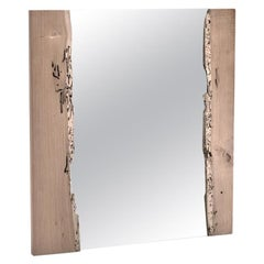 In Stock in Los Angeles, Venice Canal Wood Square Art Mirror, Made in Italy