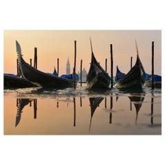 Venice Gondolas Landscape Color Photographie Fine Art Print by Rainer Martini