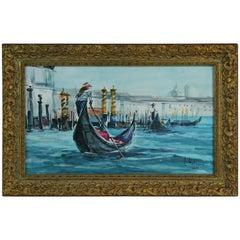 """Venice """"Gondolier"""" Landscape Painting"""
