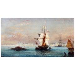 Venice Harbor Oil Painting