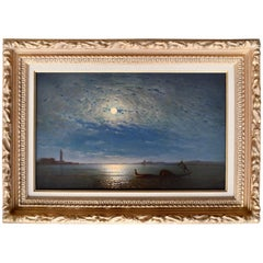 """Venice Lagoon by Moonlight"" by Amédée Rosier"