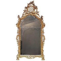 Venice Late 18th Century Golden Wood Mirror in Baroque Style