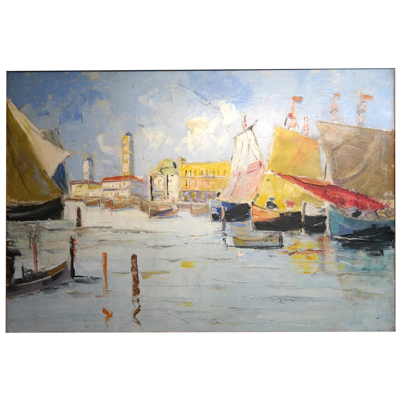 Venice Scene, Unknown, Oil on Canvas Painting, 1910s