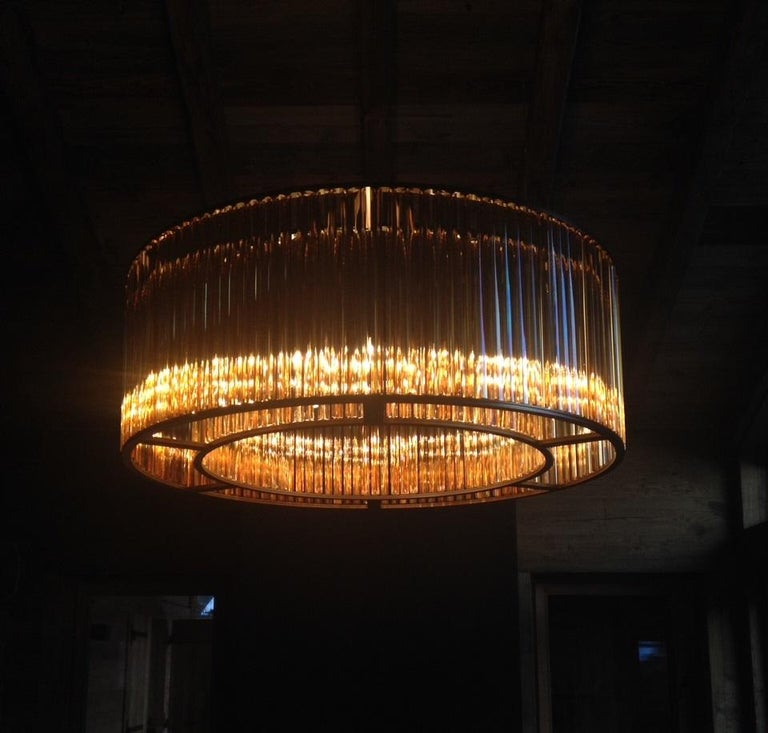 Modern VeniceM Crown Circular Suspension Lamp by Massimo Tonetto For Sale