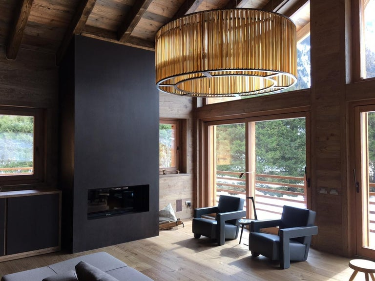 European VeniceM Crown Circular Suspension Lamp by Massimo Tonetto For Sale