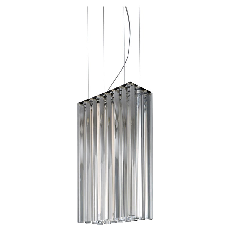 VeniceM Large Grace Suspension Light in Metal and Crystal by Massimo Tonetto For Sale