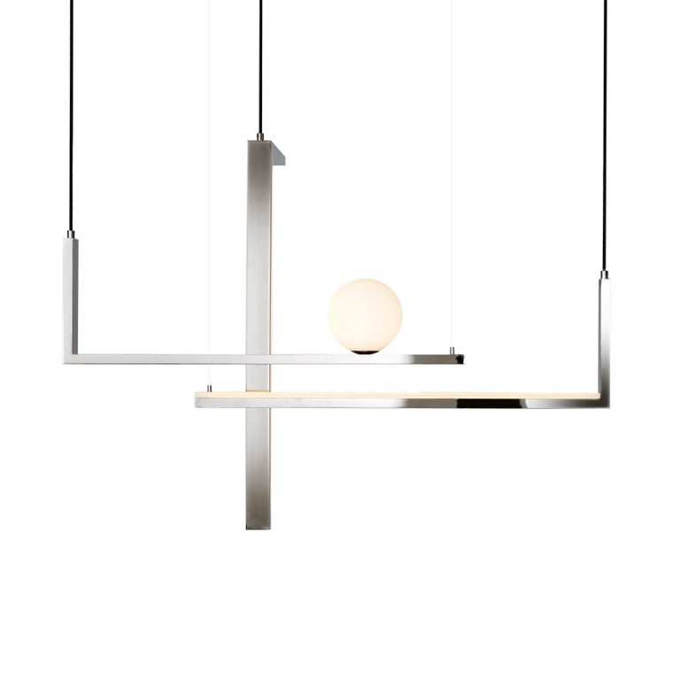 Contemporary VeniceM Less 5 Pendant Light in Metal and Glass by Massimo Tonetto For Sale