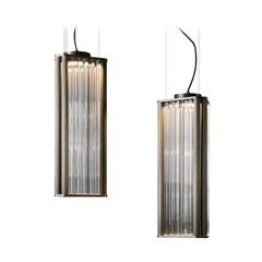 VeniceM Numa Pendant Light in Brass and Glass by Massimo Tonetto