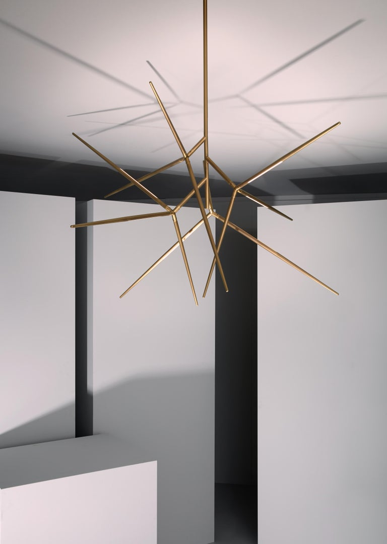 Contemporary VeniceM Spear Extra Small Chandelier by Massimo Tonetto