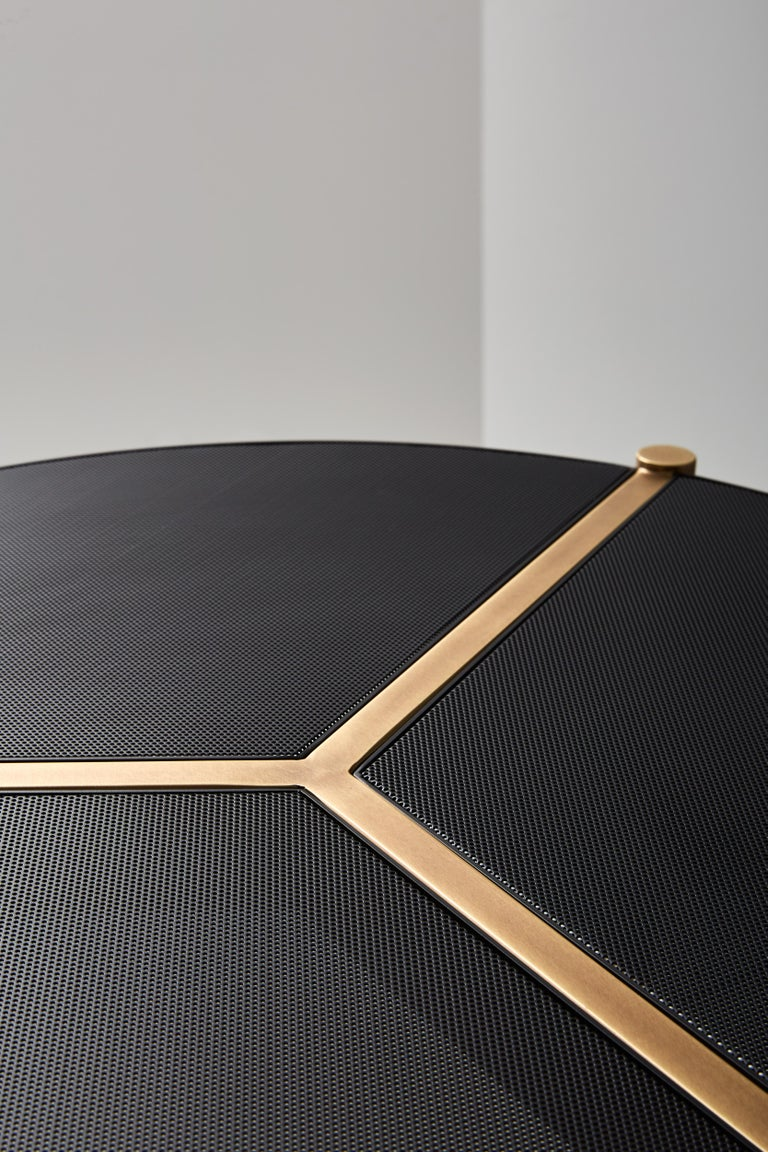 Modern VeniceM Urban Coffee Table in Brass and Metal by Massimo Tonetto For Sale