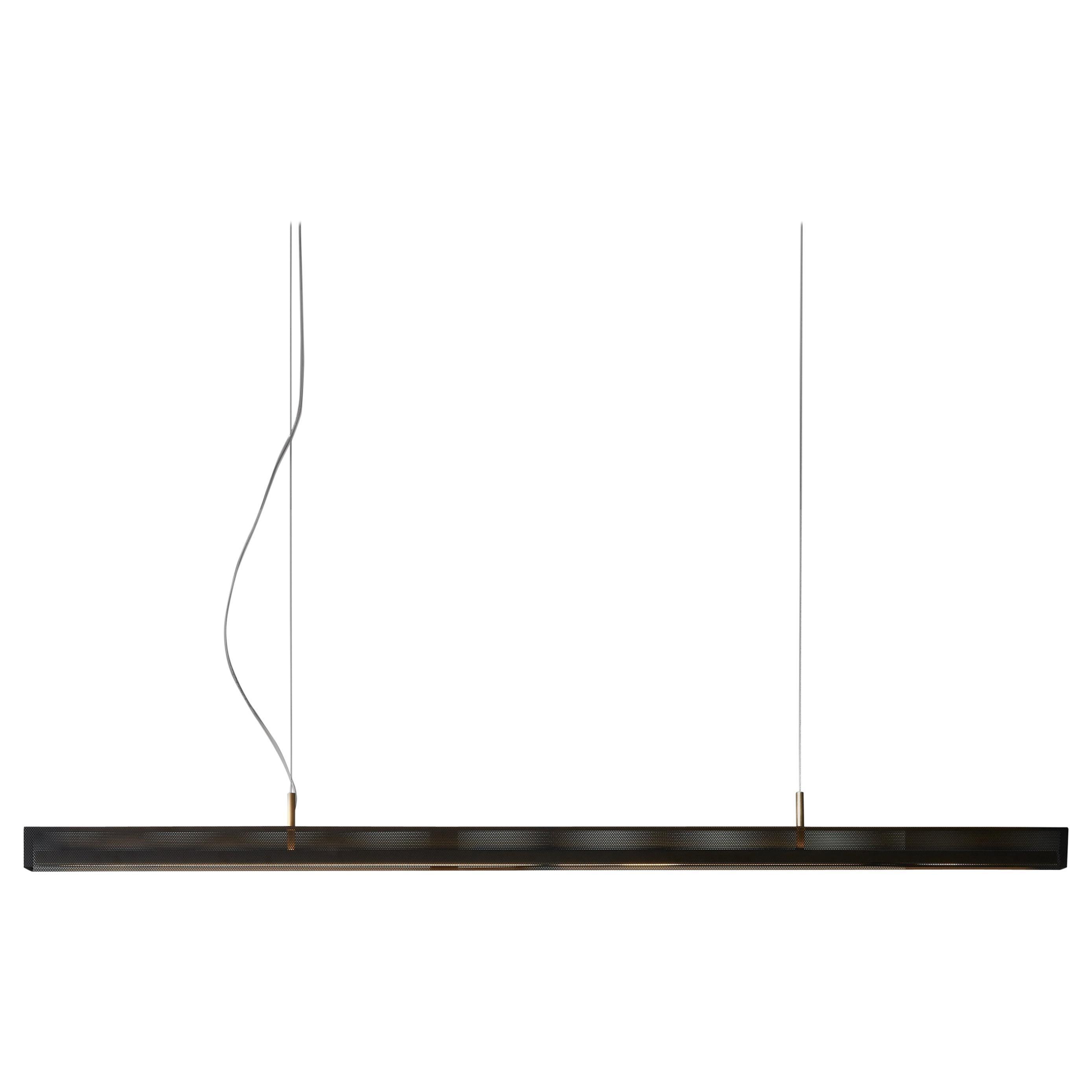 VeniceM Urban Lightline Susp, Light Burnished Brass and Metal by Massimo Tonetto