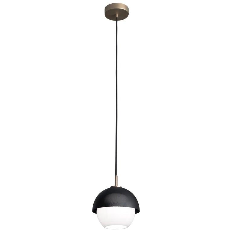 For Sale: Gray (Matte Black Nickel) VeniceM Urban Pendant Light 1S in Light Burnished Brass by Massimo Tonetto