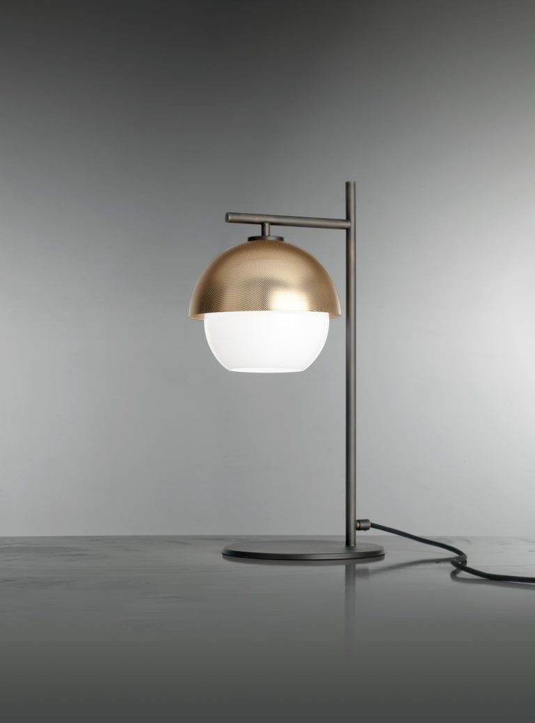 Modern VeniceM Urban Table Light in Dark Burnished Brass by Massimo Tonetto For Sale