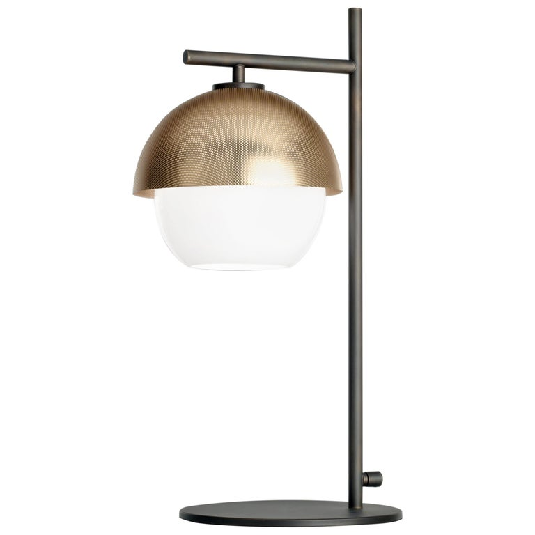 For Sale: Gold (Polished Gold) VeniceM Urban Table Light in Dark Burnished Brass by Massimo Tonetto