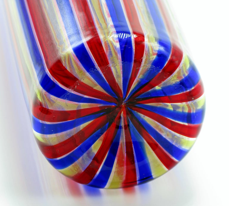 Venini A Canne Bottle Vase In Good Condition For Sale In New York, NY