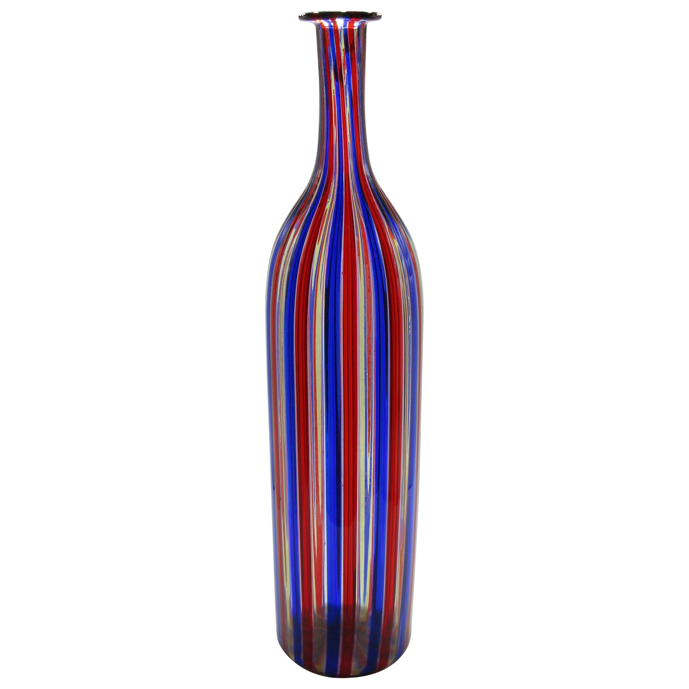 Venini A Canne Bottle Vase