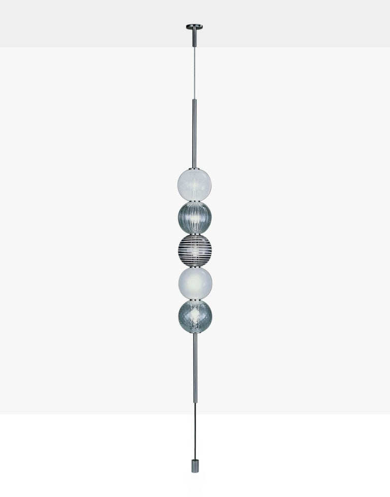 Italian Venini Abaco 5-Light Pendant Light by Monica Guggisberg and Philip Baldwin For Sale