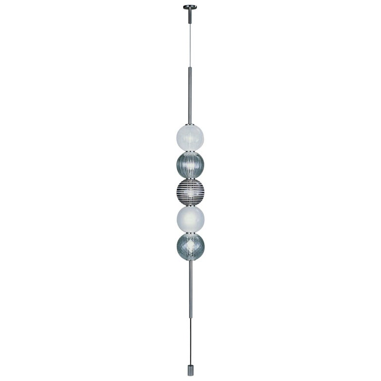 Venini Abaco 5-Light Pendant Light by Monica Guggisberg and Philip Baldwin For Sale