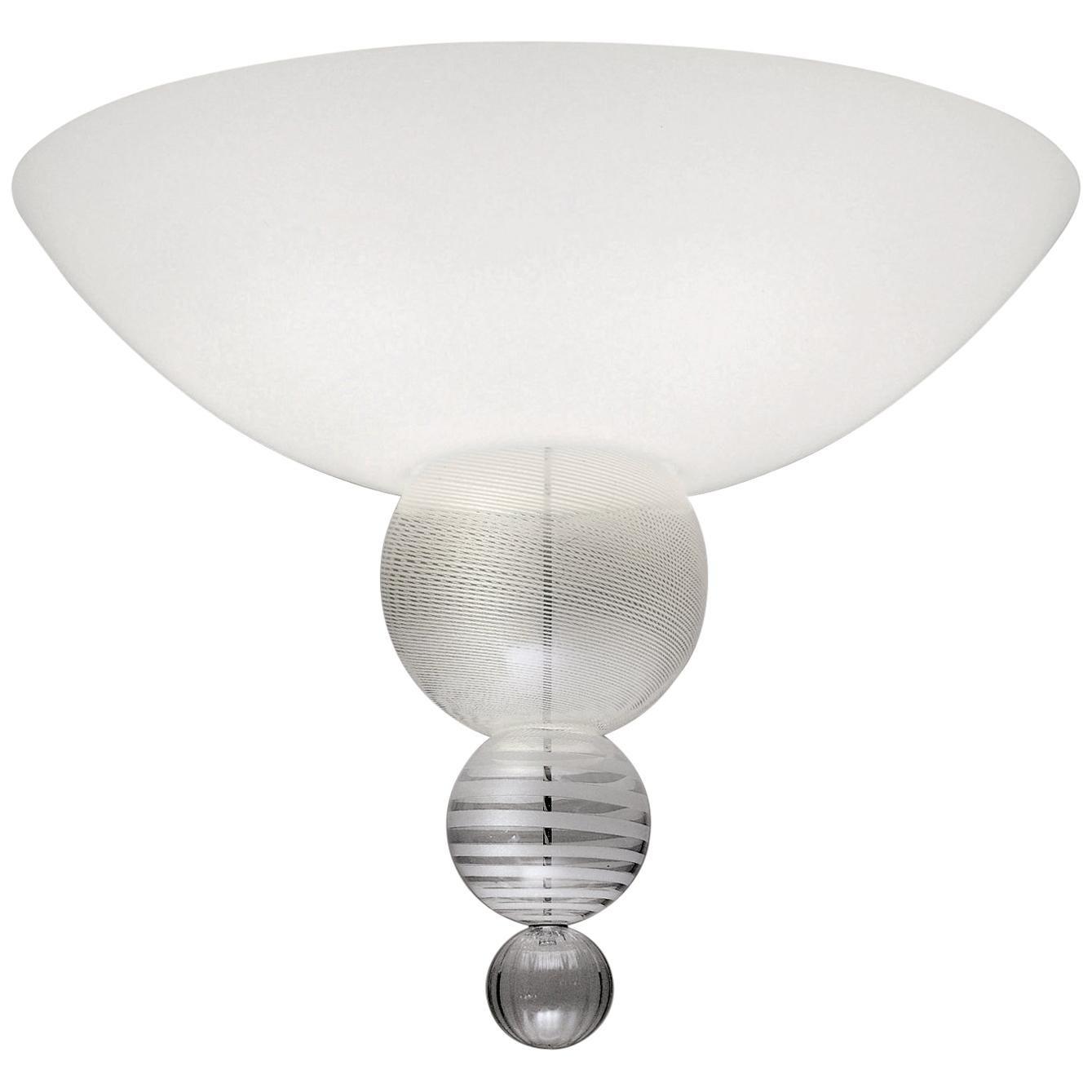 Venini Abaco Flush Light in White by Monica Guggisberg & Philip Baldwin