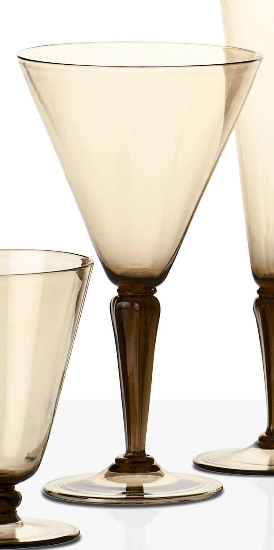 Italian Venini Ambasciata Hand Blown Sciroppo in Straw Yellow Glass For Sale