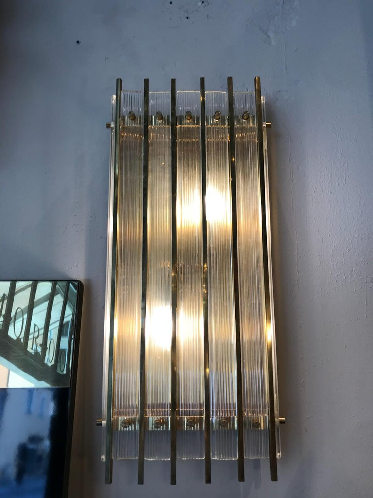 Applique, wall light, made by the famous Murano furnace Venini.