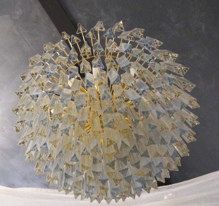 Art Glass Venini Attributed Crystal Murano Glass