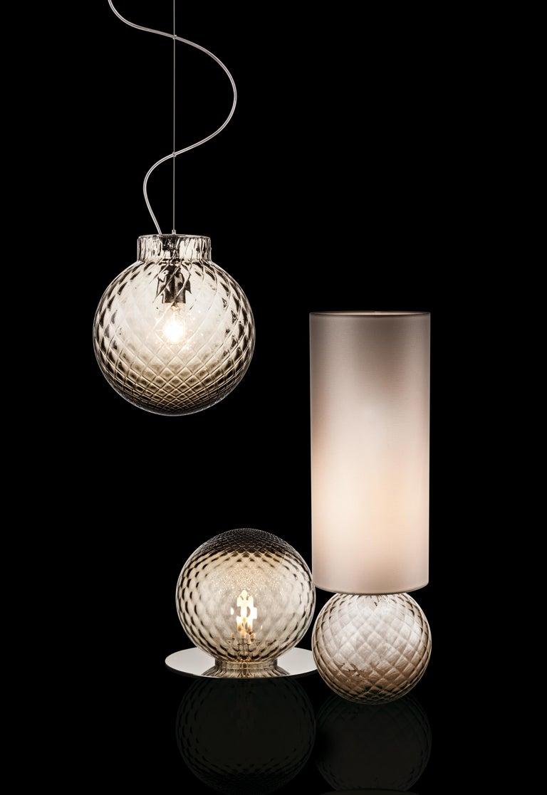 Italian Venini Balloton Globe Table Light in Gray For Sale