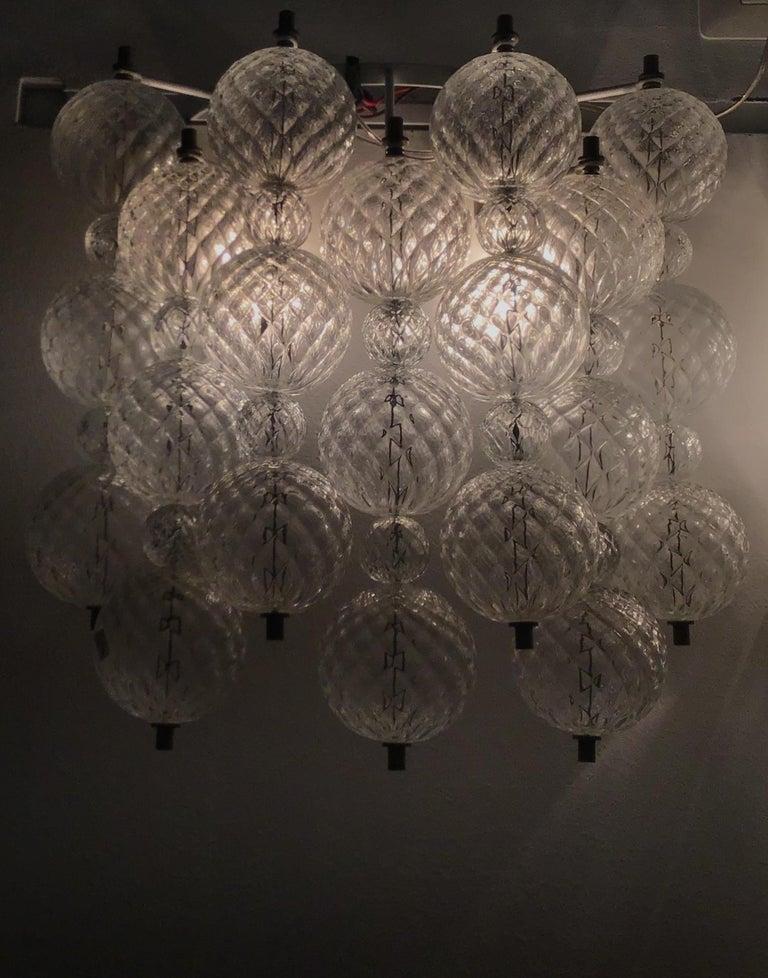 "Venini ""Balloton"" Sconces Brass Murano Glass Iron, 1957, Italy In Excellent Condition For Sale In Milano, IT"