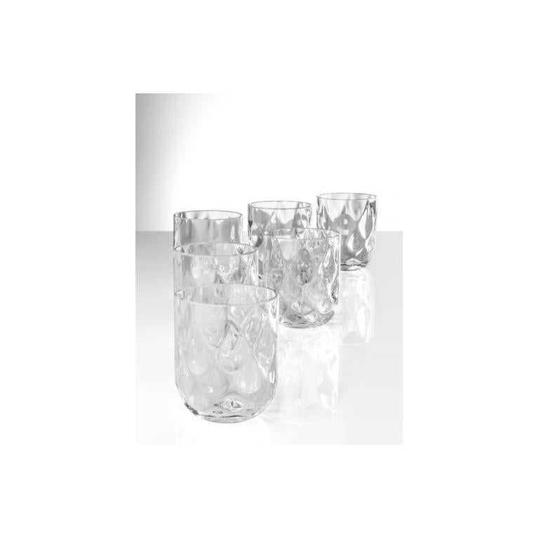 Modern Venini Bicchieri Carnevale Glass Set in Ice For Sale
