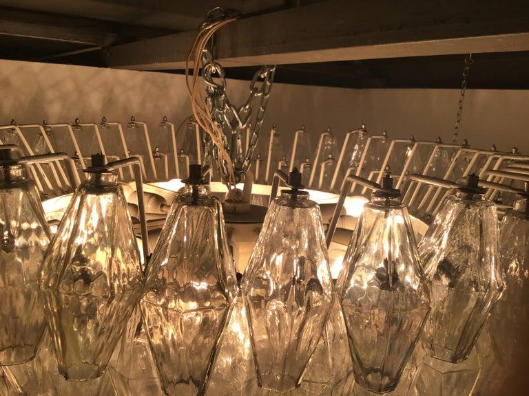 """Venini """"Carlo Scarpa"""" Poliedri Murano Glass Iron Brass, 1960, Italy For Sale 5"""