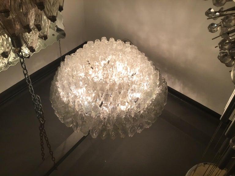 """Venini """"Carlo Scarpa"""" Poliedri Murano Glass Iron Brass, 1960, Italy For Sale 9"""