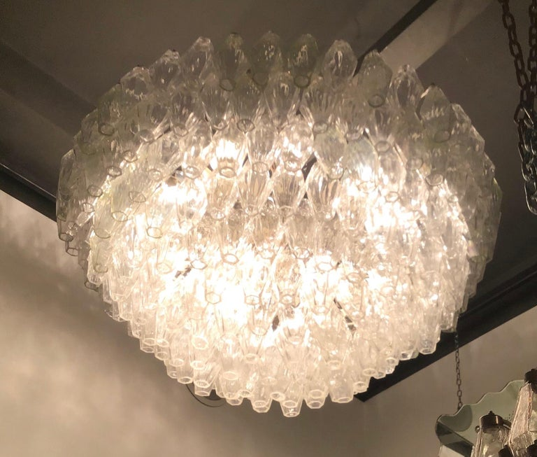 """Venini """"Carlo Scarpa"""" Poliedri Murano Glass Iron Brass, 1960, Italy For Sale 11"""