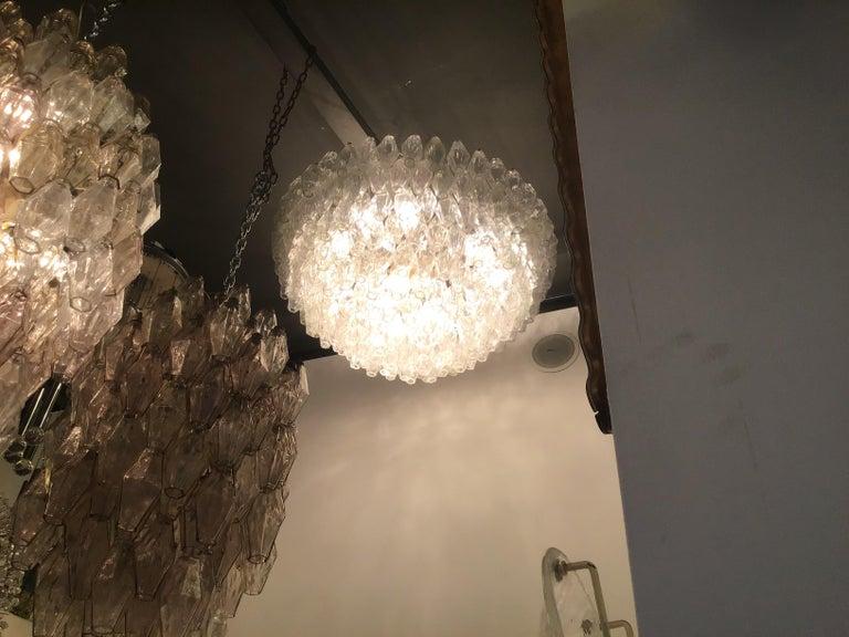 """Other Venini """"Carlo Scarpa"""" Poliedri Murano Glass Iron Brass, 1960, Italy For Sale"""