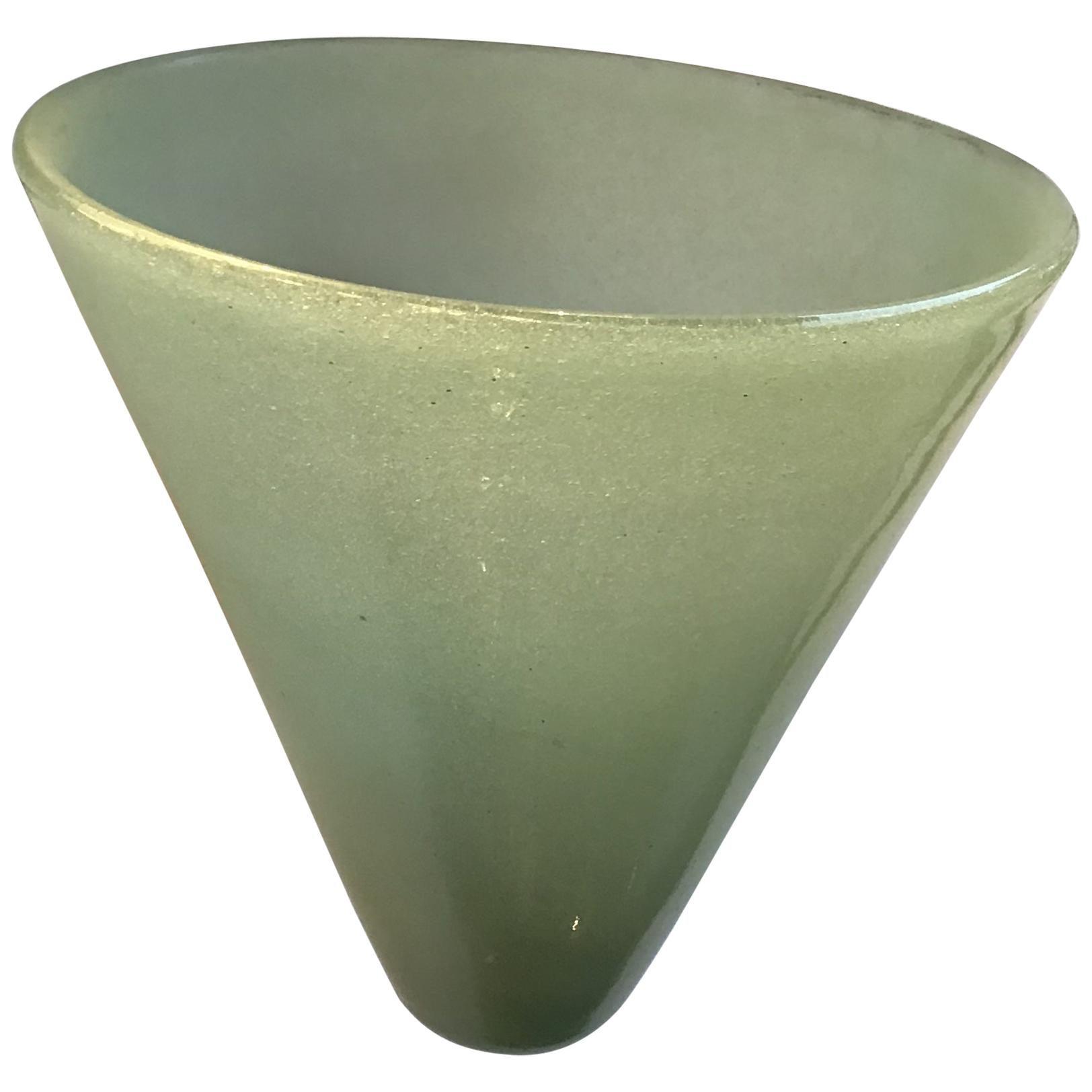 Venini Carlo Scarpa Sconce Murano Glass Copper-Plated Brass, 1930, Italy