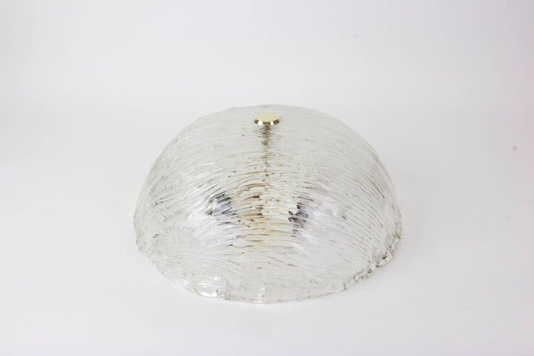 Mid-Century Modern Venini Ceiling Lights Attributed to Carlo Scarpa for Venini, 1950s For Sale