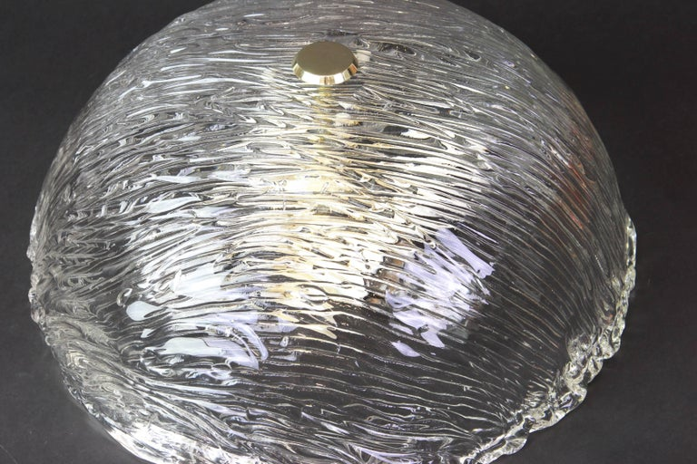 Mid-20th Century Venini Ceiling Lights Attributed to Carlo Scarpa for Venini, 1950s For Sale
