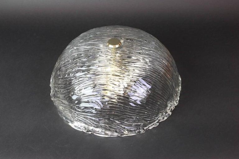 Murano Glass Venini Ceiling Lights Attributed to Carlo Scarpa for Venini, 1950s For Sale