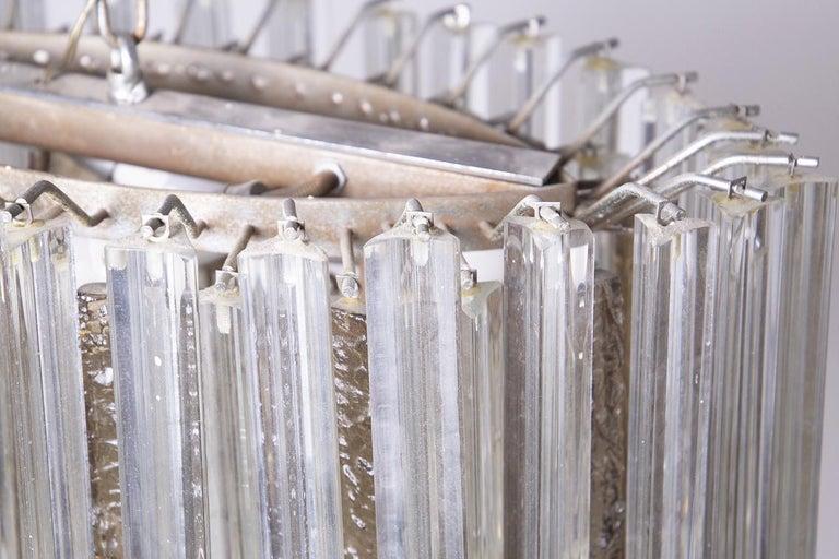 Mid-Century Modern Venini Chandelier in Murano Glass, 1950s For Sale