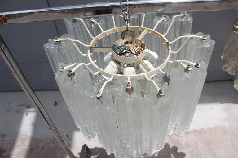 Venini Chandelier Mid-Century Modern Italian Design Murano Glass 1950  In Excellent Condition For Sale In Palermo, Sicily
