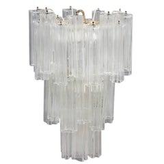 Venini Chandelier Mid-Century Modern Italian Design Murano Glass 1950