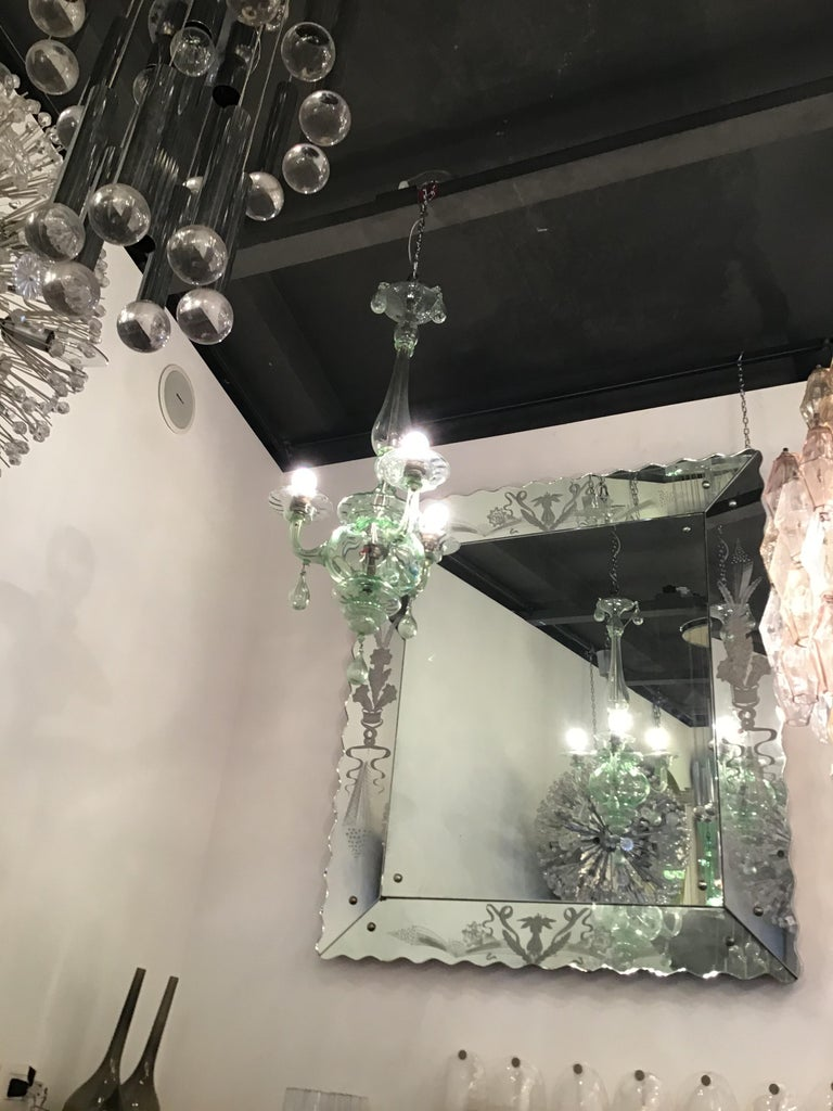 Venini Chandelier Murano Glass, 1930, Italy In Excellent Condition For Sale In Milano, IT