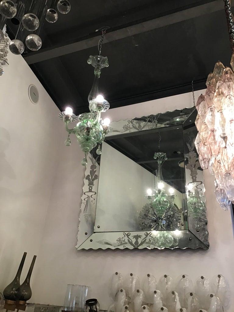 20th Century Venini Chandelier Murano Glass, 1930, Italy For Sale