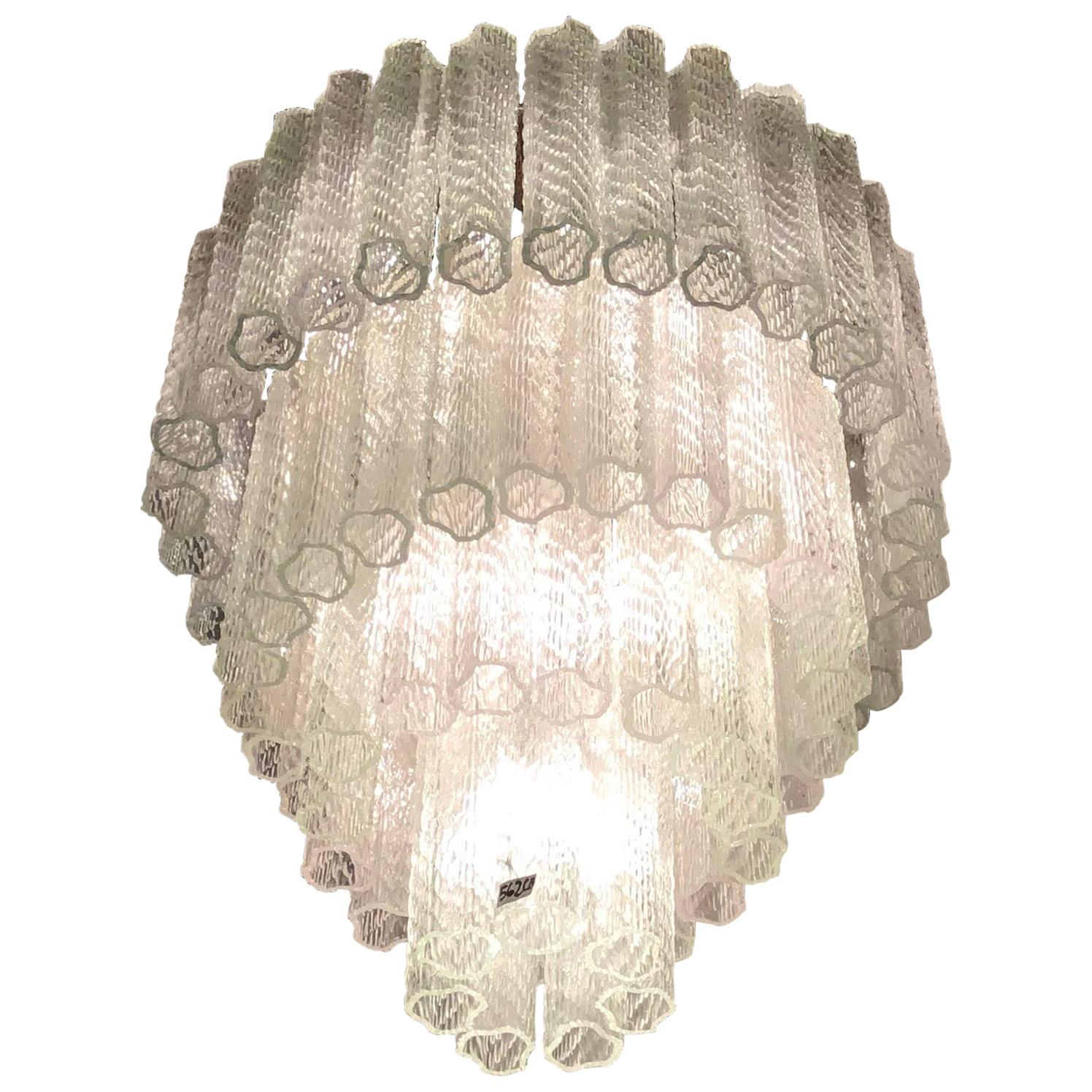 Venini Chandelier Murano Glass Iron, 1950, Italy