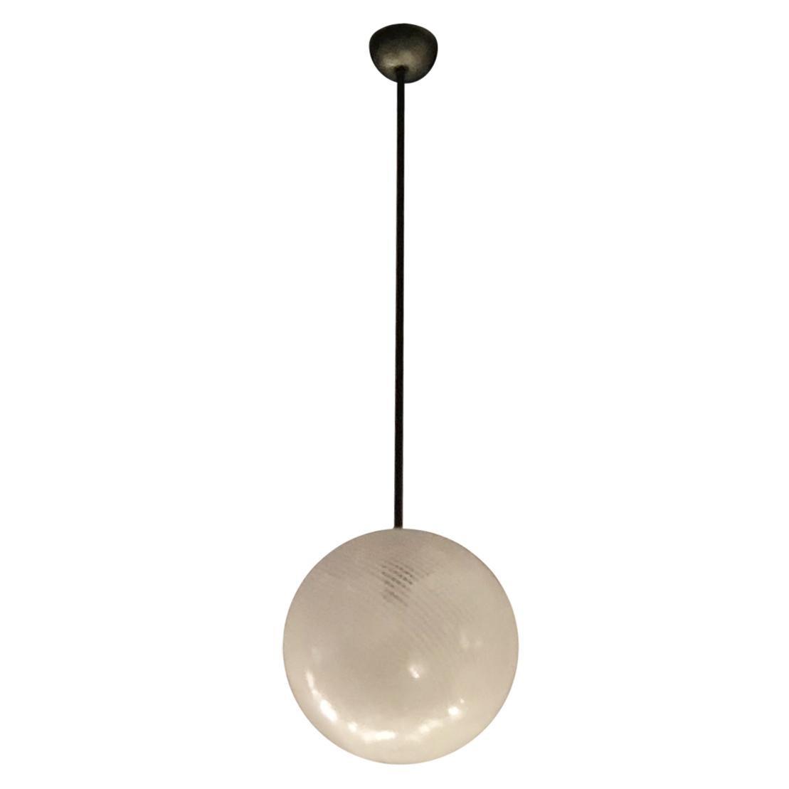 Venini Chandelier Murano Glass Metal 1930 Italy