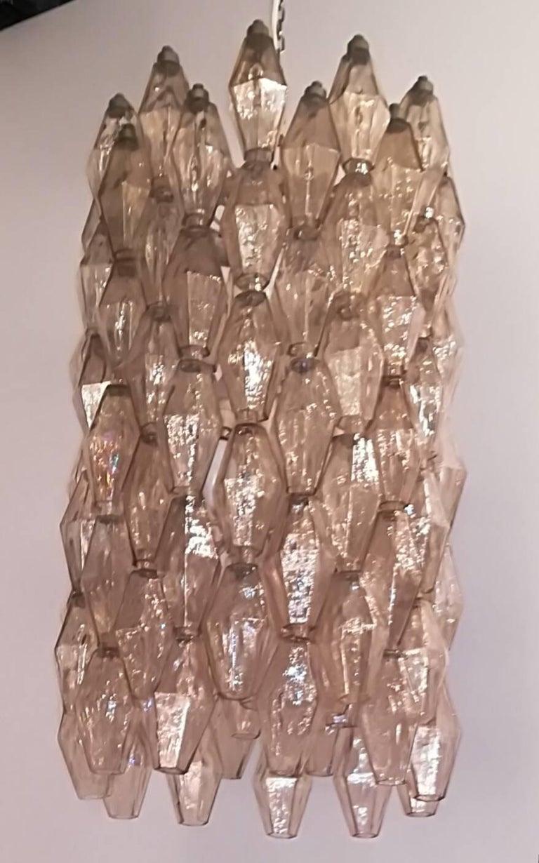 Chandelier 1950, Venini Carlo Scarpa structure iron /glass.