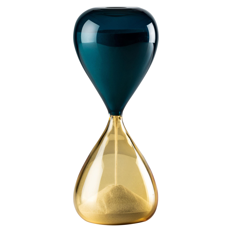 Venini Clessidra Hourglass in Amber Murano Glass