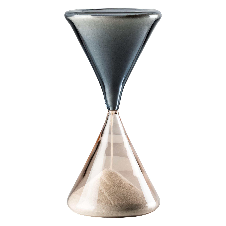 Venini Clessidra Hourglass in Grape and Pink Murano Glass