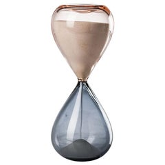 Venini Clessidre Glass Hourglass in Pink and Gray by Fulvio Bianconi