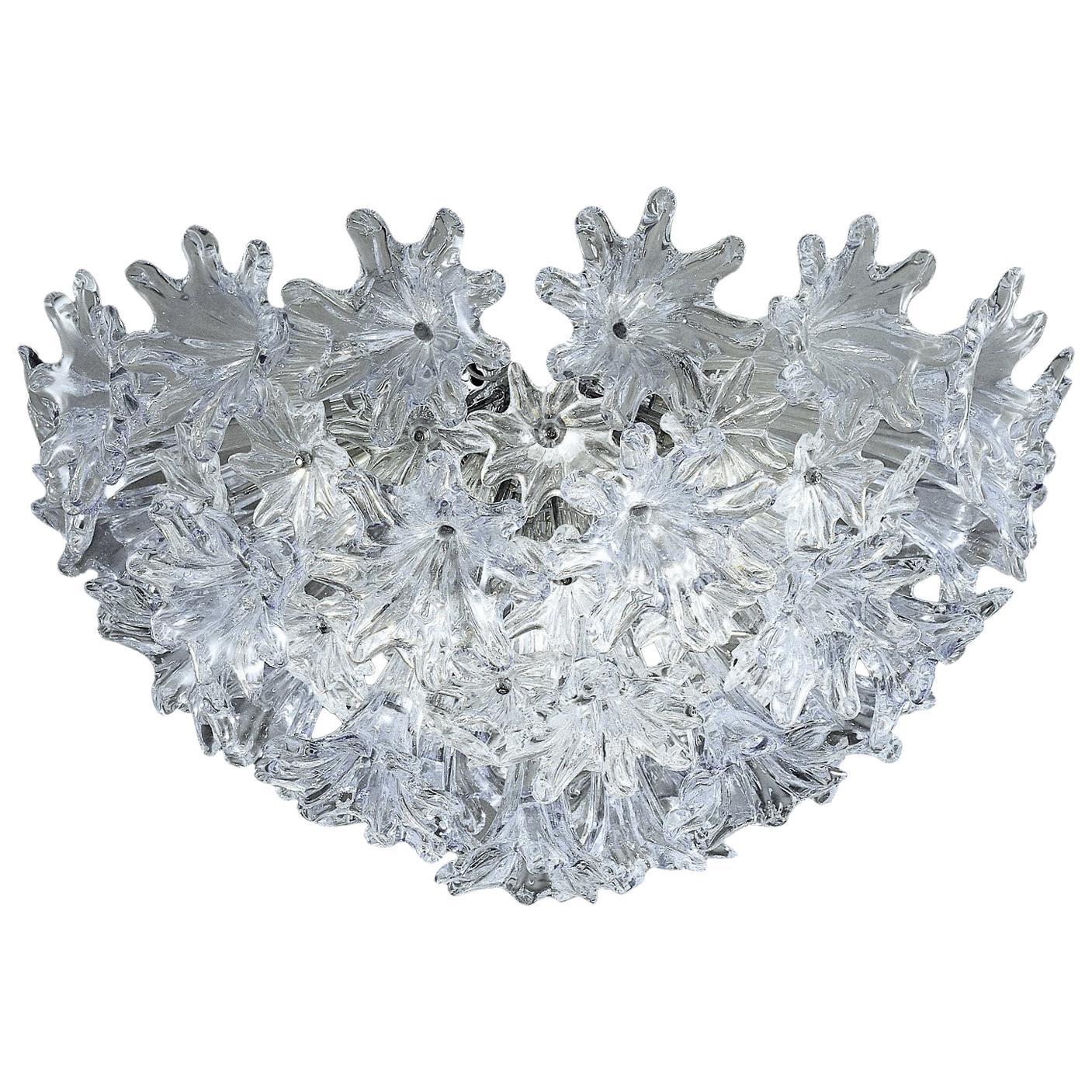 Venini Esprit Ceiling Light in Crystal