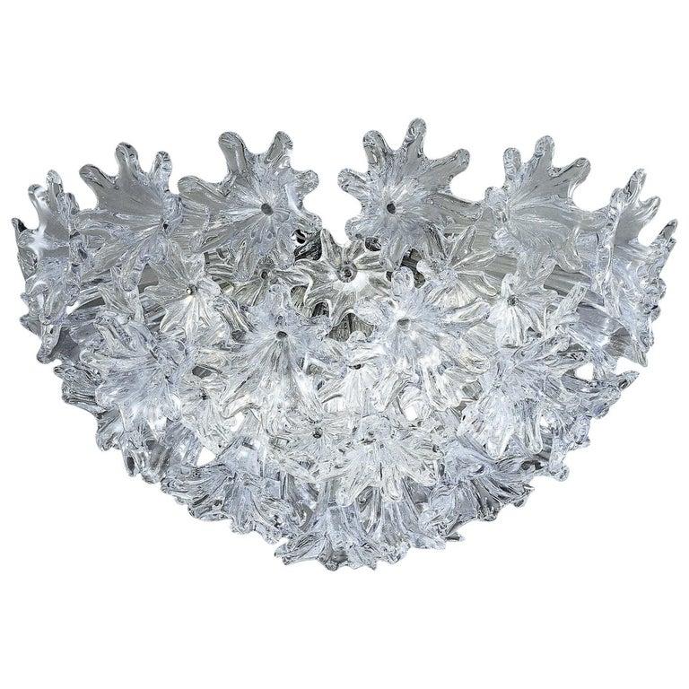 Venini Esprit Ceiling Light in Crystal For Sale